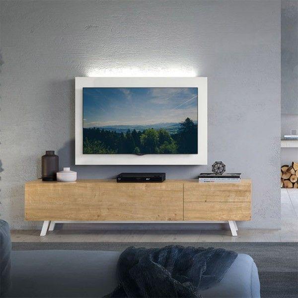 mueble para television de madera