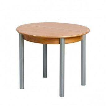 Comprar online mesa redonda de madera laminada Oca la en Muebles Lara