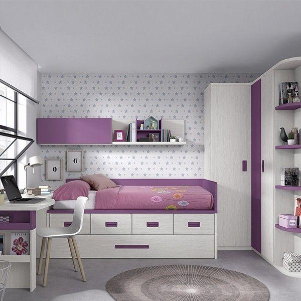 comprar online dormitorio juvenil compacto F032