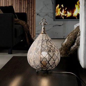 comprar lampara de mesa de estilo rustico
