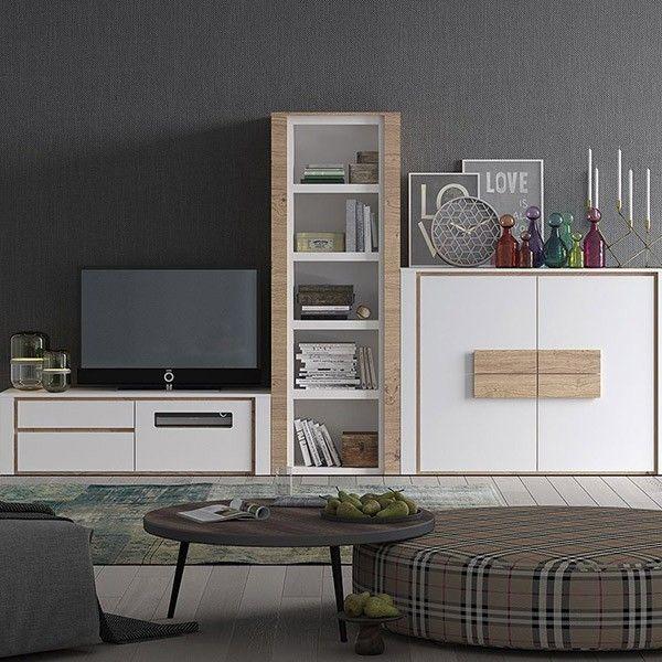 comprar comedor y salon moderno chapado en madera natural